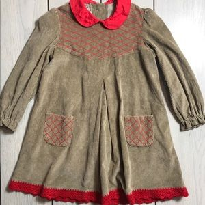 Other - Vintage style little girls brown corduroy dress